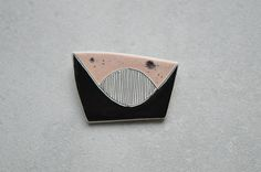 Ceramic brooch unique teacher gifts unusual jewelry