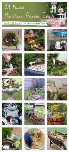 23 Magical Miniature Garden Ideas from the popular Garden Therapy blog! #gardeninginminiature