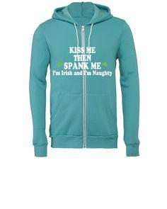 Kiss Me I'm Irish Dark - Unisex Full-Zip Hooded Sweatshirt