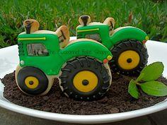 Tractor Cookies - Blue Bonnett