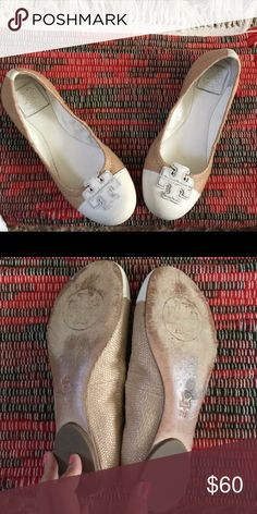 9a3a1fd00e2 NIB Tory Burch Jolie Ballet Flats light oak 10