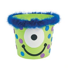 Monster Bucket - OrientalTrading.com, could be cute for centerpieces on table