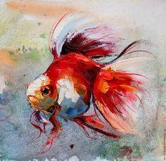 Картинки по запросу рыбка картина маслом