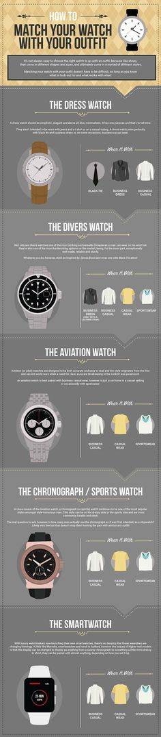 This handy guide will help you pair a watch with any outfit!