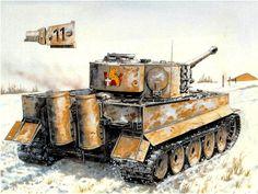 Tiger I numeral 11, 2. Kompanie, sPzAbt. 506, Union Sovietica 1943. Peter Sarson. El Schwere Heeres Panzer Abteilung 506°, formado en julio de 1943, fue el primero en adoptar la nueva organización de 45 Tiger desde el comienzo. Más en www.elgrancapitan.org/foro/