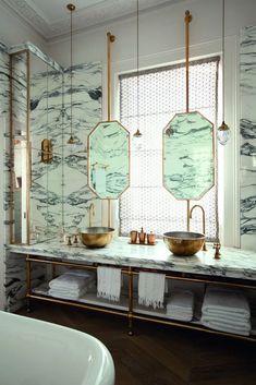 luxuriose-badkeramik-in-marmor-look-aufsatzbecken-aussen-vergoldet-marmorwascht delivers online tools that help you to stay in control of your personal information and protect your online privacy. Bathroom Lighting Design, Art Deco Bathroom, Boho Bathroom, Bathroom Trends, Bathroom Interior, Modern Bathroom, Small Bathroom, Bathroom Marble, Parisian Bathroom