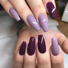 100 Latest Nail Trends for Winter 2020 – Nail Art Design Ideas for 2020 Stylish Nails, Trendy Nails, Fancy Nails, My Nails, Ongles Or Rose, Purple Nail Art, Dark Purple Nails, Purple Manicure, Nagellack Trends