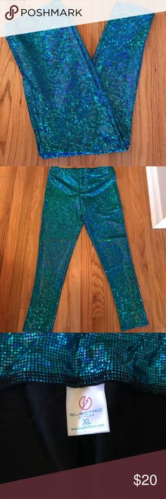 Insanely sparkly teal leggings- electric styles Did someone say disco?!! Insanely sparky teal leggings by electric styles. The color is super vibrant and teal with hints of blue and green when the light catches it right. These would be so much fun at any concert, festival, burning man, etc wide waistband makes them really comfortable. Never worn electric styles Pants Leggings