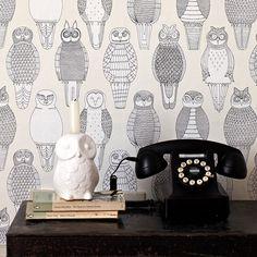 輸入壁紙専門店 WALPA / Abigail Edwards / Owls of the British Isles