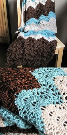 Discover thousands of images about Antigua Throw Blanket Free Crochet Pattern Crochet For Beginners Blanket, Baby Blanket Crochet, Crochet Baby, Ripple Crochet Blankets, Crochet Throws, Ripple Afghan, Crotchet, Crochet Gratis, Free Crochet