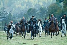 The warring Hatfield family, led by Devil Anse Hatfield (Kevin Costner) prepares to fight the McCoys