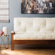 8-inch Full-size Gel Memory Foam Futon Mattress (Ivory), Beige Off-White