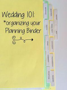 Pies Etc.: Wedding 101: The Planning Binder