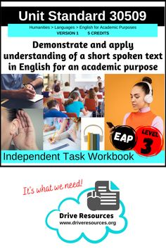 This is a complete, editable workbook designed to scaffold students through Unit Standard 30509 Demonstrate and apply understanding of a short, spoken text in English for an academic purpose – version 1. This standard is one of NZQA's English for Academic Purposes (EAP) suite. It follows the theme of Covid-19. Literacy Strategies, Share Online, Close Reading, Level 3, Learning Activities, Purpose, Students, Language, How To Apply