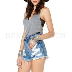 Womens So Ripped Vintage Shredded Cutoff Shorts #vintage #cutoffs #shorts #denim #denimshorts