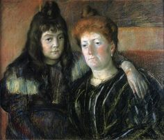 Madame Meerson and Her Daughter, 1899 by Mary Cassatt. Impressionism. portrait