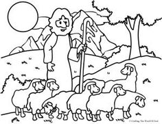 The Good Shepherd (The Lost Sheep) (Coloring Page) Coloring pages are a great way to end a Sunday School lesson. They can serve as a great take home activity. Or sometimes you just need to fill in … Bible Coloring Pages, Animal Coloring Pages, Coloring Pages For Kids, Coloring Books, Coloring Sheets, Lord Is My Shepherd, The Good Shepherd, Good Shepard, Sunday School Coloring Pages
