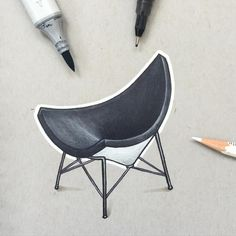 A Month of Chairs (4/30) Coconut Chair by George Nelson. #ChairSketch