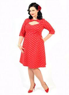Daphne Dress - Cherry Dot