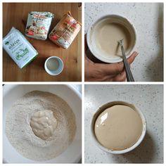 Εύκολο ζυμωτό ψωμί με αλεύρι ολικής άλεσης | mindspinfabrica Bread, Tableware, Dinnerware, Brot, Tablewares, Baking, Breads, Dishes, Place Settings