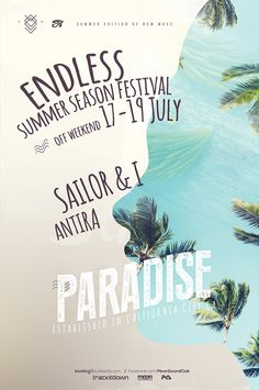 Paradise Summer Poster by Iulian Balinisteanu