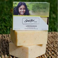 SoapBox Soaps Lemongrass Bar Soap (6 pack)