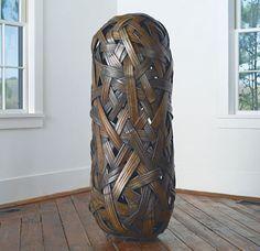 jiro yonezawa large bamboo sculptural basket