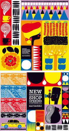 Illustrations for a new Marimekko shop Aino-Maija Metsola Illustrator and designer based in Helsinki, Finland
