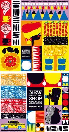 Illustrations for a new Marimekko shop Aino-Maija Metsola Illustrator and designer based in Helsinki, Finland