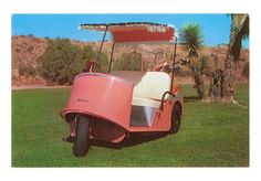 Salmon Golf Cart, Retro Art Print - Poster and Print Golf Etiquette, Custom Golf Carts, Golf Cart Batteries, Golf R, Miniature Golf, Vintage Golf, Golf Exercises, Strength Workout, Retro Art