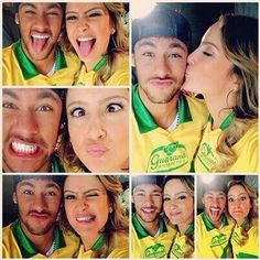 Neymar Jr. And his girlfriend..
