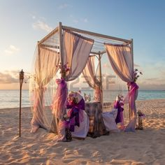 Romantic Wedding Table on Sandy Tropical Caribbean Beach at Sunset #beach, #beautiful, #bow, #caribbean, #celebration, #ceremony, #chair, #coast, #decoration, #flower, getaway, #golden, #holiday, #horizon, #island, #landscape, #leisure, #luxury, #marriage, #nature, #ocean, #outdoor, #paradise,  #relaxation, #resort, #ribbon, #romantic, #sand, #scenic, #sea, #seashore, #season, #sky, #summer, #sunny, #sunset, #tent, #tourism, #tranquil, #travel, #tropical, #vacation, #water, #wedding
