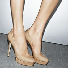 Perfect nude pumps. Jimmy Choo is out of control!