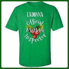 Ladonna Official Mistletoe Inspector Christmas - Adult Shirt S Irish-green - Holiday and seasonal shirts (*Amazon Partner-Link)