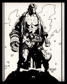 Hellboy by Mike Mignola.