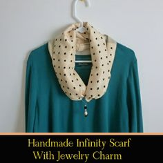 Handmade infinity scarf, arts and crafts fun for weekend relaxation...