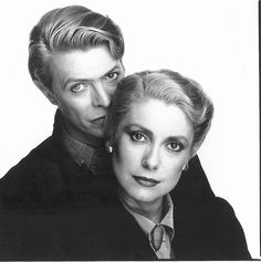 "David Bowie and Catherine Deneuve promo for Tony Scott's ""The Hunger"" (1983)."