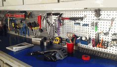 Two 16 by 48 inch Metal Pegboard