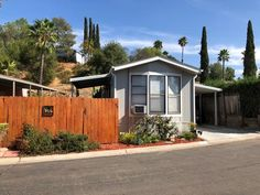Charming home with great private yard. All ages welcome! Manufactured Homes For Sale, Mobile Homes For Sale, San Diego, Shed, Outdoor Structures, Barns, Sheds