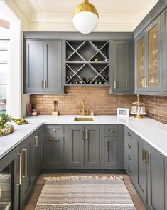 Below are the Chic Farmhouse Kitchen Cabinets Makeover Ideas. This article about Chic Farmhouse Kitchen Cabinets Makeover Ideas was posted  Dark Grey Kitchen Cabinets, Painting Kitchen Cabinets, Kitchen Cabinetry, Brown Cabinets, Kitchen Fixtures, Kitchen Cabinet Paint Colors, Kitchen Grey, Farmhouse Kitchen Cabinets, Kitchen Appliances