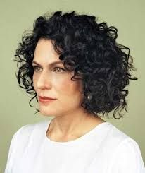 Image result for permanent curls for medium length hair