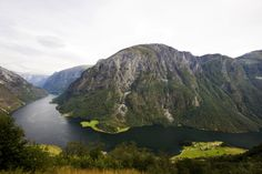 View at the Naerofjord, Sogn og Fjordane, Norway, Scandinavia, Europe