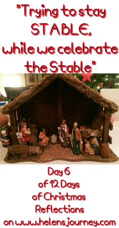 "CLICK to read a Christmas Reflection ""TRYING TO STAY STABLE WHILE CELEBRATING THE STABLE"" about trying to keep your cool this Christmas, staying grounded in this busy period, to keep perspective, surviving the holidays #christmas #survivingtheholidays #christmassurvivalkit #staycalm #begrounded #staycoolthischristmas #christmasstress #dealingwithchristmas #christmaspersective #christmasdecorations #nativityscene #crib #nativity #nativitystatues #nativityornaments Christmas Tress, Days Till Christmas, Christmas Decorations, Christmas Reflections, Nativity Ornaments, Days Of The Year, Natural Living, Crib, Keep It Cleaner"
