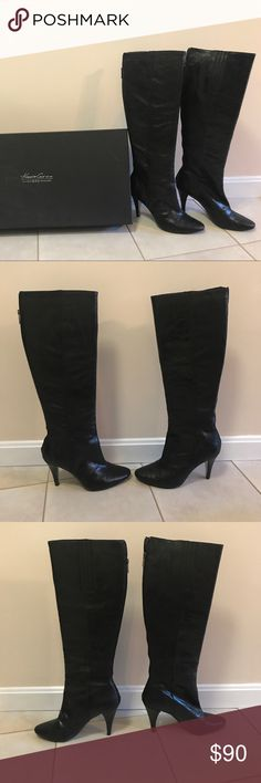 "Black 9•2•5 Kenneth Cole ""Talent Show"" Boots Like New Leather Boots! Only worn a few times and still in excellent condition! Women's size US 10Med. Kenneth Cole Shoes Heeled Boots"