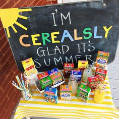 """481 Likes, 44 Comments - Katherine Marie (@katherinemaries) on Instagram: """"We kicked off the first day of summer break with a silly cereal bar!! An extra special treat!"""""""