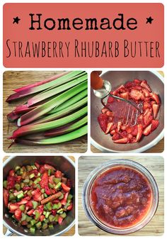 Homemade Strawberry Rhubarb Butter