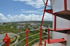 Stairway to heaven, The Arniston Lighthouse, Cape Agulhas, South Africa Landmarks Nomadic Existence Alleyway, Local Attractions, Stairway To Heaven, Ancient Ruins, Stairways, Wind Turbine, Lighthouse, Cape, South Africa