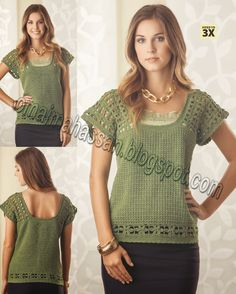 Limehouse Garden Top is a free crochet pattern. Instructions given fit size small with changes for medium, large, X-large, 2X-large and 3X-large.