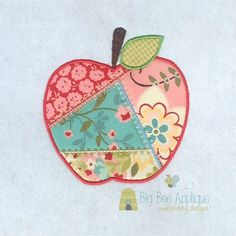 Crazy Quilt Apple Applique Embrodery Design by BigBeeApplique