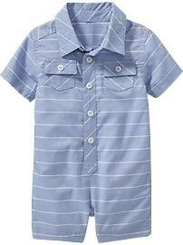 Button-Down One-Pieces for Baby
